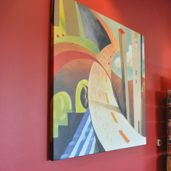 Canvas printed for Biggby Coffee.